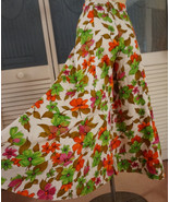 Vintage 70's Hippie High Waisted Flower Power Palazzo Bellbottom Pants C... - $65.00