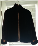 Vintage Mouton Fur Coat Dark Brown Sz Med - Lar... - $150.00