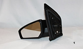 Fits 07-12 Nissan Sentra Left Driver Manual Remote Mirror Unpainted Black - $45.95