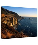 ArtWall Kathy Yates 'Golden Glow on Big Sur' Gallery Wrapped Canvas Artw... - ₨5,100.64 INR