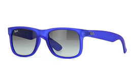 New RAY-BAN Justin Sunglass RB4165 899/11 Blue Matte w/Grey Gradient 51 - $107.75
