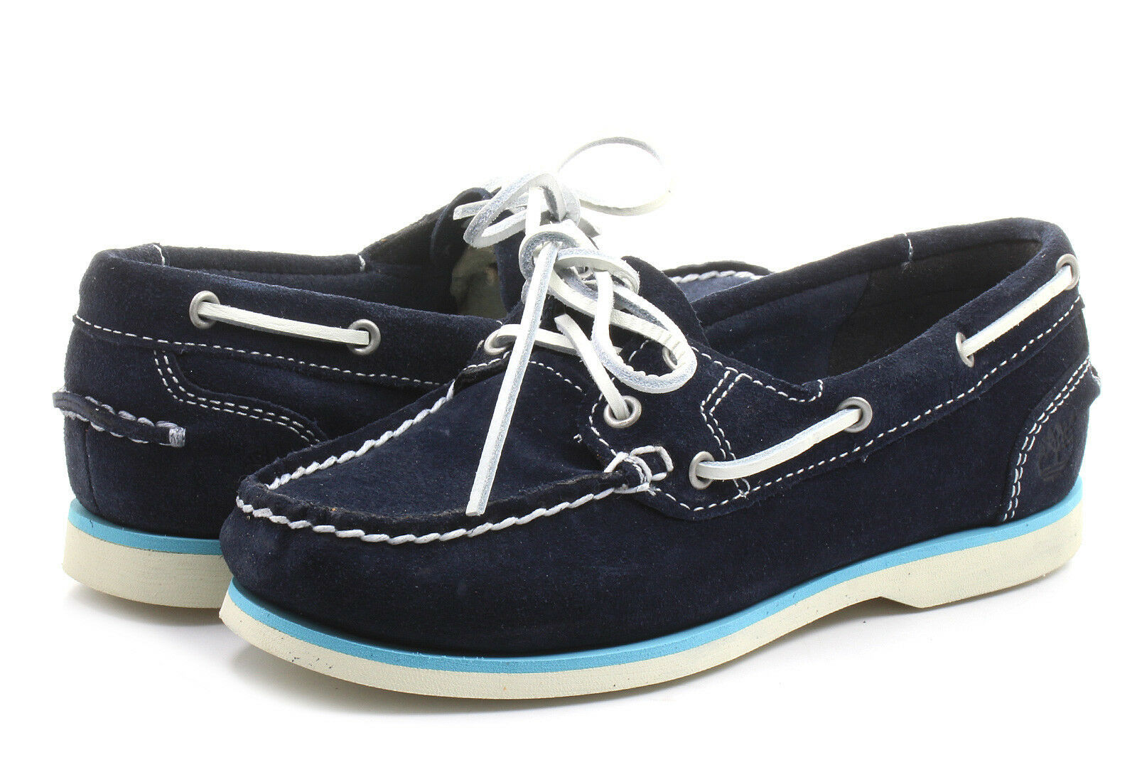 Primary image for NEW! TIMBERLAND WOMEN'S EARTHKEEPERS CLASSIC NAVY BLUE SUEDE BOAT SHOES 8223A