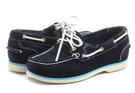 NEW! TIMBERLAND WOMEN'S EARTHKEEPERS CLASSIC NAVY BLUE SUEDE BOAT SHOES ... - $49.99