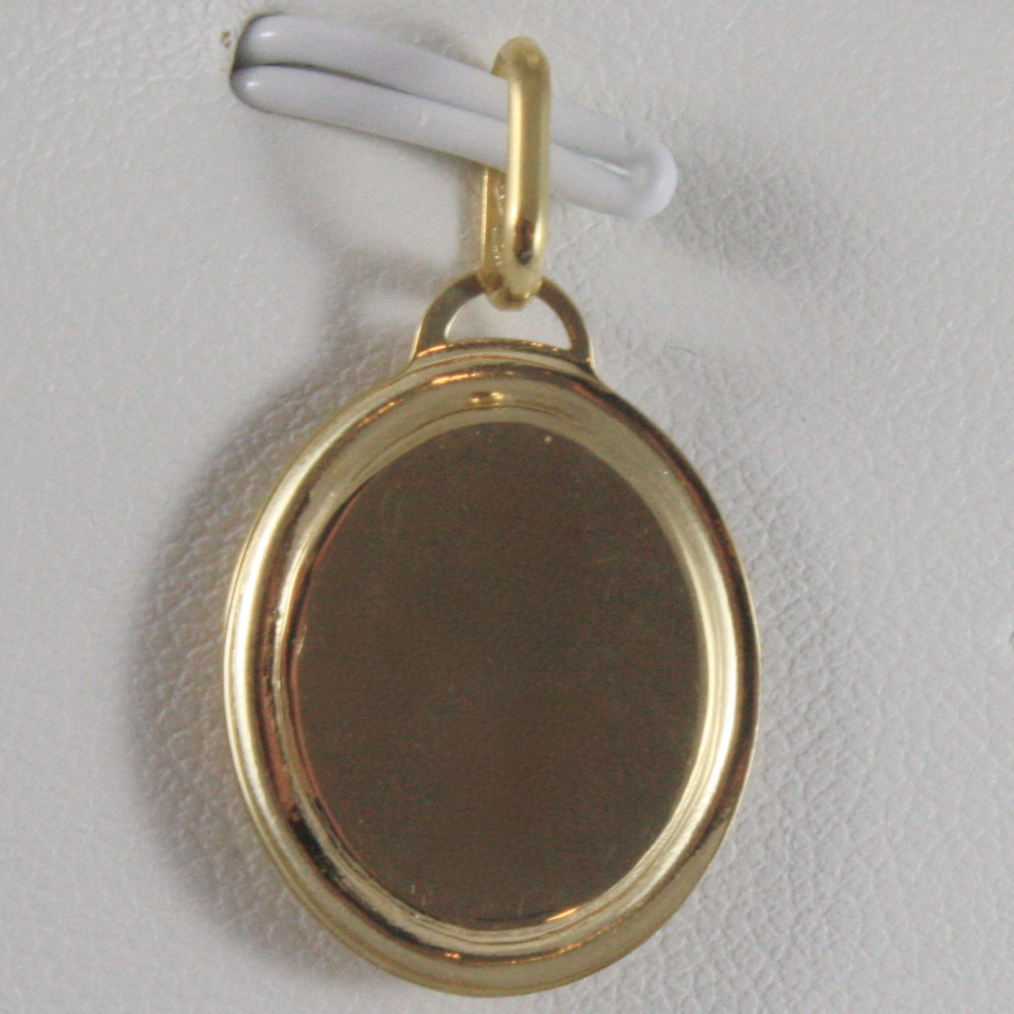 SOLID 18K YELLOW GOLD MEDAL POPE FRANCIS, FRANCISCO, ENGRAVABLE, MADE IN ITALY