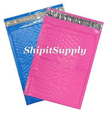 2-500 4X8 #000 ( Blue & Pink ) Color Poly Bubble Padded Mailers Fast Shipping
