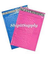 2-500 #000 Poly ( Blue & Pink ) Combo Color Bubble Padded Mailers 4X8 - $2.96+