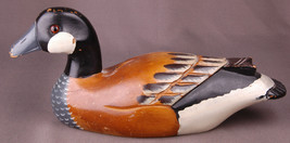 Vtg Wood Duck Decoy-Hand Painted-Fowl Hunting-Original Paint-Folk Art-Go... - $140.24