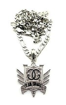 "Small Silvertone Iced Out ""I Am Swagg"" Pendant ... - $6.81"