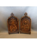 """Collectible """"Syroco Like""""Jesus/Mary Wall Plaques by Barwood in Relief  - $7.99"""