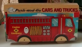 Push-and-Go Cars and Trucks Wooden Book - $10.00