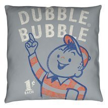 Dubble Bubble Pointing Throw Pillow White 18X18 - £22.75 GBP