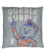 Dubble Bubble Pointing Throw Pillow White 18X18 - $37.70 CAD
