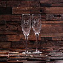 Personalized His and Hers Mr. and Mrs. Champagne Glasses Wedding Anniver... - $29.99