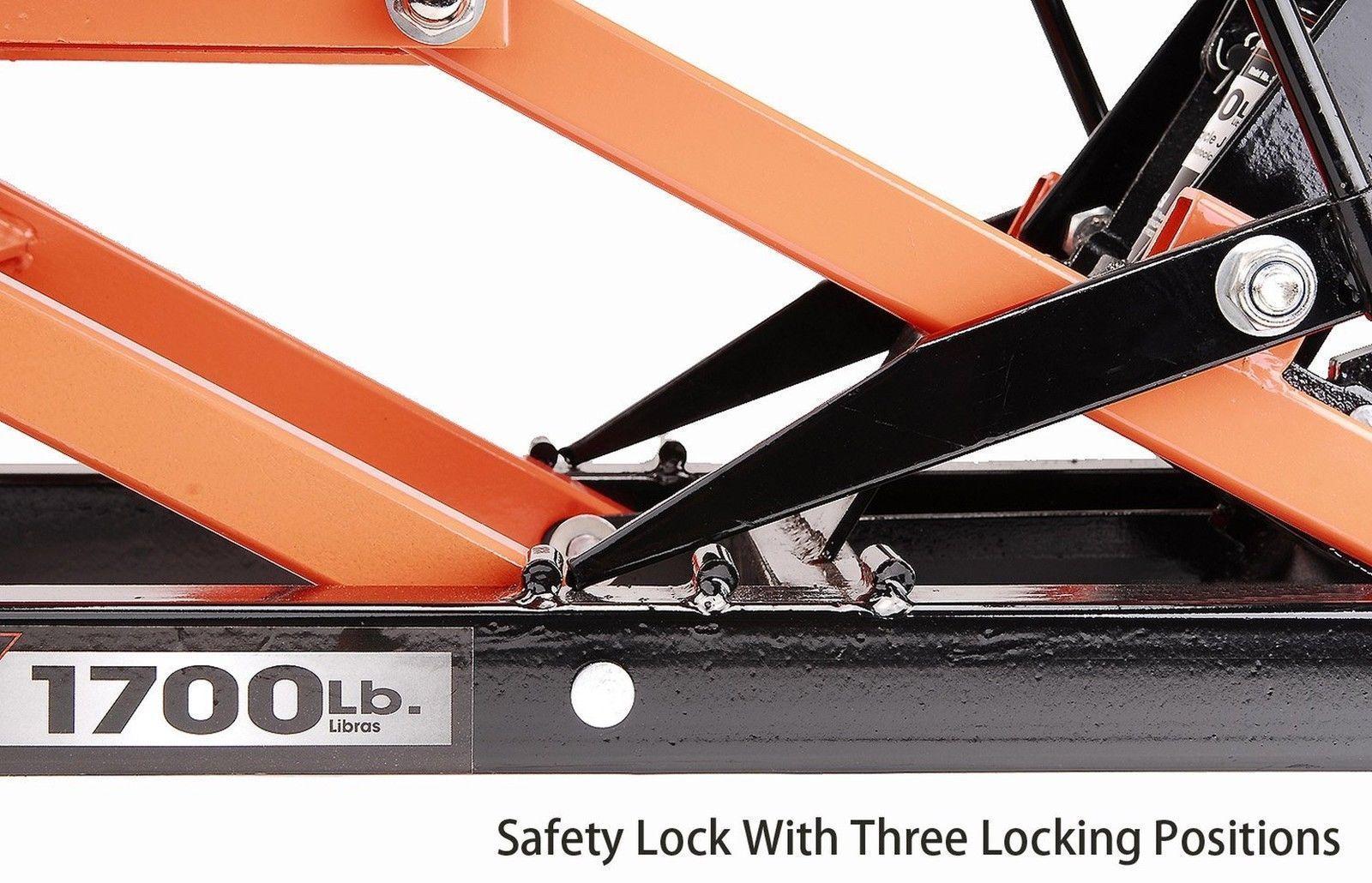 1700 LB Hydraulic Motorcycle/ATV Jack Heavy Duty Mechanic Tools Power Zone