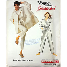 Miss Coat Jumper Sash Vogue 2279 Pattern Vtg Isaac Mizrahi Size 12 14 16... - $19.98