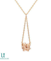 NEW Gift Little Twin Stars Kiki & Lara K18 pink gold necklace pendant JA... - $886.05