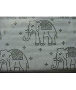 Cynthia Rowley Gray Elephants on White Microfiber Sheet Set King - $66.00