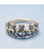 Parade of Cats Sterling Silver Ring - (Size 7) - $14.95