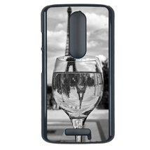 Coloful wine with Paris Motorola Moto X3 case Customized premium plastic phone c - $12.86