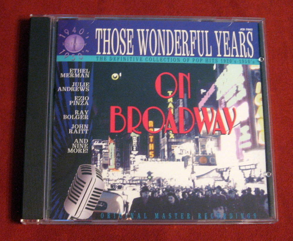 Broadway Those Wonderful Years Ethel Merman Julie Andrews 1940-1950 Raitt CD