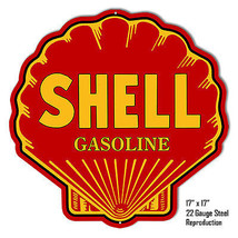 Reproduction Shell Gasoline Laser Cut Out Metal  Sign 17×17 - $49.50