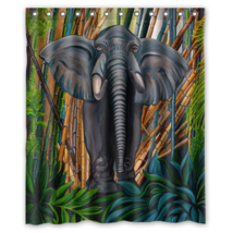 Elephant #02 Shower Curtain Waterproof Made From Polyester - $29.07+