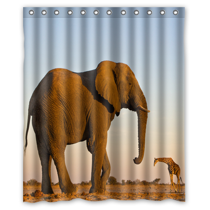 Elephant #06 Shower Curtain Waterproof Made From Polyester