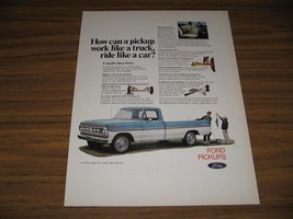 1971 Print Ad Ford Pickup Truck Rides Like a Car - $9.89