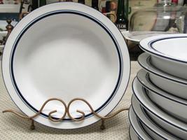"""Dansk Christianshavn Blue 8"""" Rimmed Soup Bowls Set Of Eight - $18.76"""