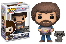 Bob Ross The Joy of Painting with Raccoon Vinyl POP! Figure Toy #558 FUN... - €11,01 EUR