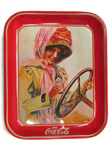 Coca-Cola Reproduction Tray  Duster Girl or Motor Girl Issued 1980s  - $4.95