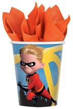 Incredibles 2 Paper 9 oz Cups Birthday Party Supplies 8 Per Package New - $4.41