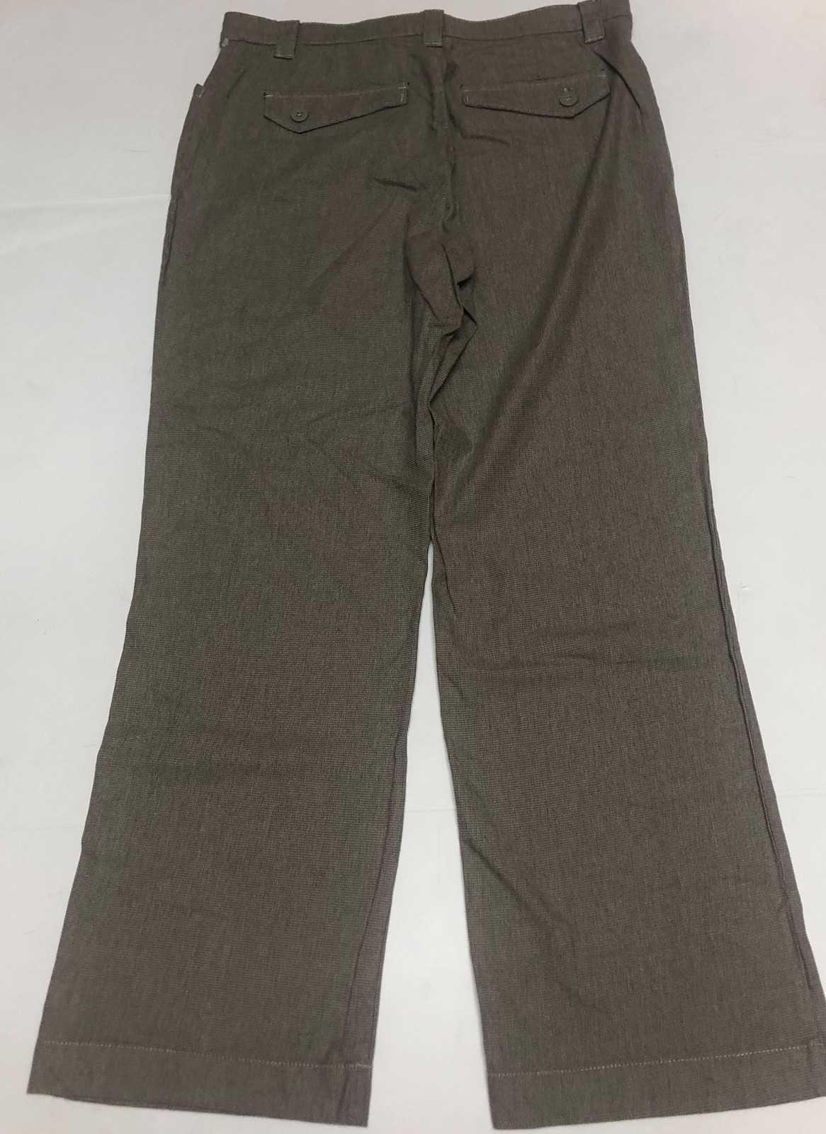 Lee Comfort Fit Casual Pants Women's Sz 14M Gray Small Plaid image 6