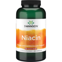 Natural Swanson Organic Niacin 500 mg 250 Capsules Vegan Vegetarian - $34.73
