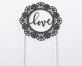 Love Black Script Wedding Cake Topper Lasercut Romantic Garden Reception... - $16.81