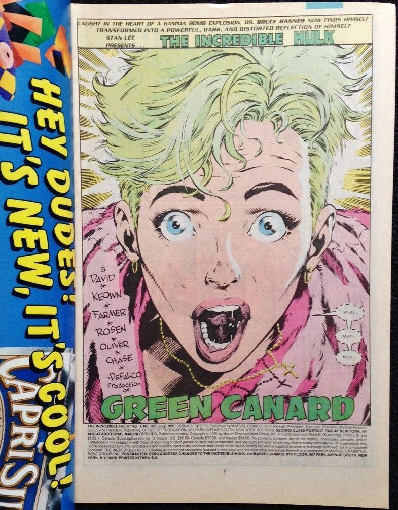 Marvel Comics  The Incredible Hulk 383 July 1991