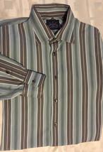 d8b24aee2a INDIGO PALMS Denim Tommy Bahama Men Striped Long Sleeve Button Up Shirt Sz  L -  23.99