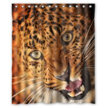 Eye Leopard #01 Shower Curtain Waterproof Made From Polyester - $29.07+
