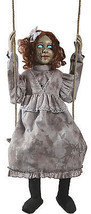 Animated Swinging Dead Girl Prop Haunted House Halloween Decoration - €115,05 EUR