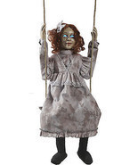 Animated Swinging Dead Girl Prop Haunted House Halloween Decoration - £100.17 GBP