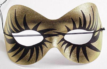Mardi Gras Mask Gold Starburst Eyemask