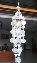 "White Capiz Shells Wind Chime Garden Decor / Beach Wedding Decor (25"") - $15.00"