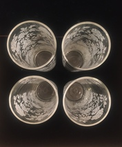Vintage 70s Libbey White Roses pattern collins glasses set of 4 image 5