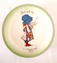 "Holly Hobby 10-1/2 "" Plate ""Start Each Day in a Happy Way"" Vintage Coll... - $24.99"