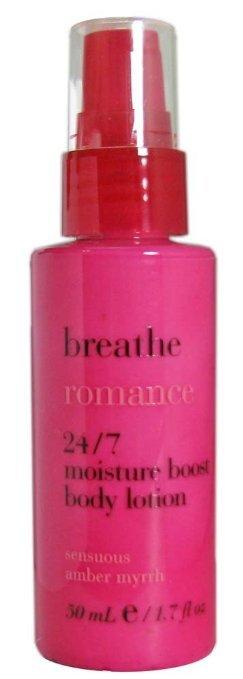 Breathe romance travel size lotion2
