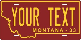Montana 1933 Personalized Tag Vehicle Car Auto License Plate - $16.75