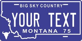 Montana 1975 Personalized Tag Vehicle Car Auto License Plate - $16.75