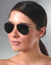 Large Aviator Smoked Sunglasses Silver Frame Dark Black Lenses FREE USA ... - £6.09 GBP