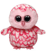 Ty Beanie Boos 6'' Plush PINKY The Pink Owl ~NEW~ - $7.89