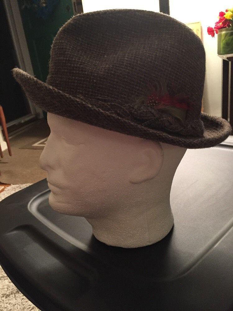 8a29db23f3e Vintage Stetson Tweed 100% Wool Fedora Hat